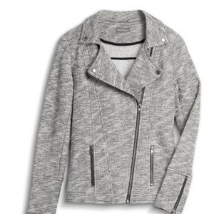 Market & Spruce Jackets & Coats - Market and spruce moto knit gray jacket